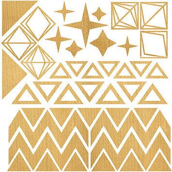 North American Herb & Spice Darling Dear Laser-Cut Wood Veneer Shapes-Triangles & Diamonds