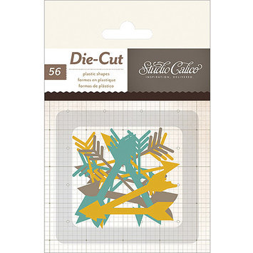 American Crafts 331515 Thataway Plastic Die-Cuts 56/Pkg-Thin Arrows