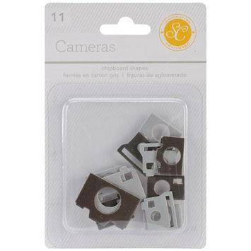 Studio Calico Essentials Chipboard Shapes-Cameras Black & Gray 11/Pkg