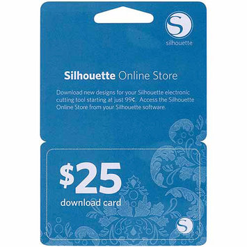 Silhouette America Silhouette $25 Download Card