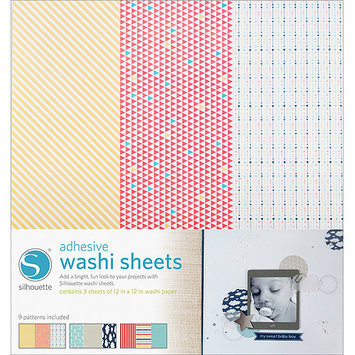 Silhouette Of America Silhouette Adhesive-Back Washi Paper 12