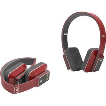 iDeaUSA AtomicX HP001BT-R Bluetooth Headphone w/ Mic (Red)