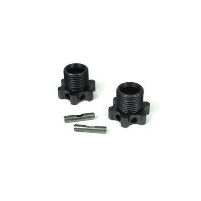 TEKNO R/C TKR5071B Wheel Hubs 17mm 1mm Offset w/Pins EB48 (2) TKRC5771 Tekno RC