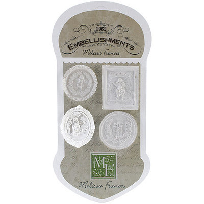 Melissa Frances Resin Embellishments 4/Pkg-Cameo Assortment 1.375inX1.125in
