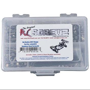 RC SCREWZ HOT026 Stainless Steel Screw Kit Hot Bodies D812 1/8 RCZC0026 RC Screwz