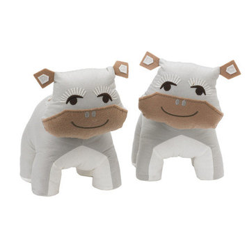 Living Textiles Lolli Living Zig Zag Zoo Bookend Friends - Hippo