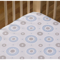 Living Textiles Baby Living Textiles Cotton Poplin Fitted Sheet - Blue Orbit