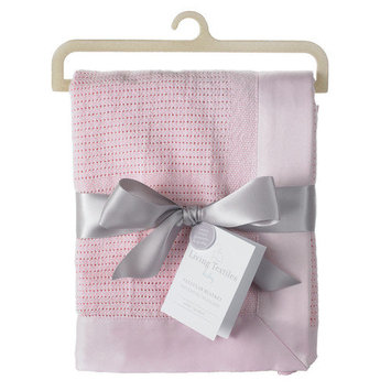 Livingtextilesbaby Cellular Blanket Color: Pink