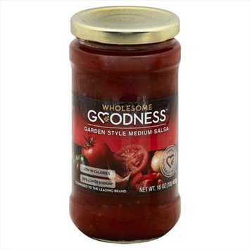 Wholesome Goodness 16 oz. Medium Garden Style Salsa - Case Of 6