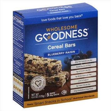 Wholesome Goodness 4.4 oz. Goodness Blueberry Raisin Cereal Bars - Case Of 6