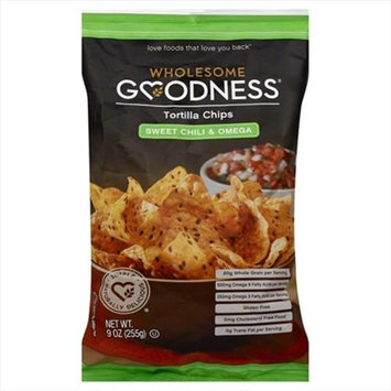 Wholesome Goodness 9 oz. Tortilla Chips Sweet Chili & Omega - Case Of 12