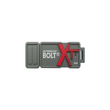 Patriot Memory 32GB Supersonic Bolt Xt USB 3.0 Flash Drive - 32GB - Led Indicator Encryption Support Rugged Design Durable Shock Proof Water Resistant Password Protection (pef32gsbtusb)