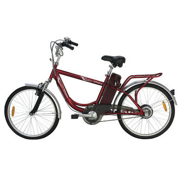 Yukon Trail Inc Yukon Trail Navigator Urban Street SM24 Mens Electric Bike - Red