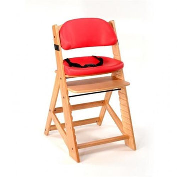 Keekaroo Height Right Kids Chair Natural with Cherry Comfort Cushions