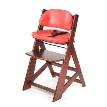 Keekaroo Height Right Kids Chair Mahogany with Cherry Comfort Cushions
