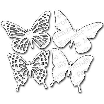 My Favorite Things Die-Namics Dies-Fancy Butterflies, 3.6 To 3