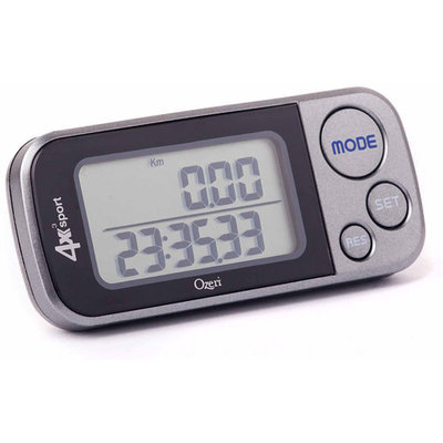 Ozeri 4x3sport Pocket 3D Pedometer and Activity Tracker with Tri-Axis Technology