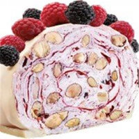 Quaranta Foodie Imports White Chocolate Soft Nougat Roll Slice With Berries