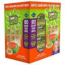 Boogie Wipes Saline Nose Wipes with Boogie Base (30 ct, 6 Refills)