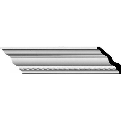 Ekena Millwork 3-in x 3-in x 7.88-ft Interior/Exterior Primed Polyurethane Crown Moulding (Pattern 152797) MLD02X02X04CR