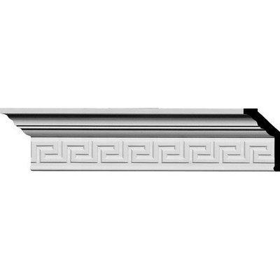 Ekena Millwork 2-1/4-in x 3-1/2-in x 7.9-ft Interior/Exterior Primed Polyurethane Crown Moulding (Pattern 153023) MLD03X02X04ER