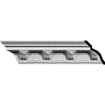 Ekena Millwork 5.25-in x 7.88-ft Polyurethane Attica Crown Moulding MLD05X05X07AT