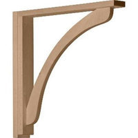 Ekena Millwork 2.5-in x 17.25-in Maple Reece Shelf Wood Corbel