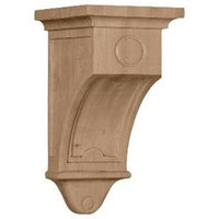 Ekena Millwork 7.5-in x 14-in Cherry Arts and Crafts Wood Corbel