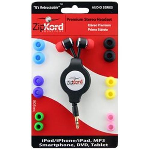 Ekg/zipkord Ekg-Zipkord 805mc EKG Retractable Stereo Headset - 7 Colors Multi
