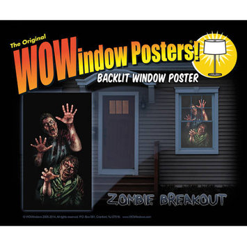 Zombie Breakout Wowindow Poster Halloween Decoration