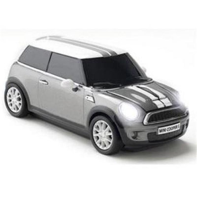 Totally Tablet CCM660400 Mini Cooper S computer mouse in Dark Silver with 2.4 G