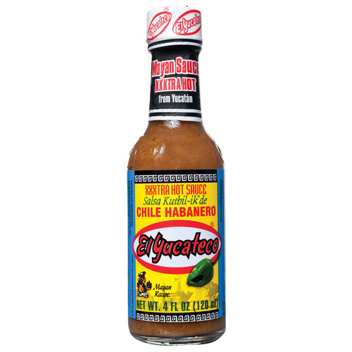 El Yucateco Hot Sauce Xxxtra Chile Habanero 4 Oz Pack Of 12