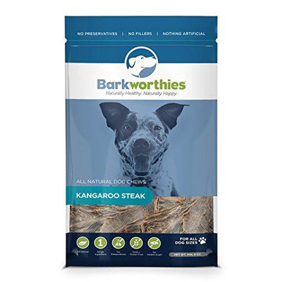 Barkworthies Kangaroo Steak 8 oz Bag Single