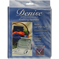 By Annie Denise Interchangeable Knitting Needles Kit, Pink 075319