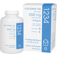 Creative BioScience - Coconut Oil 1234 2000 mg. - 180 Softgels