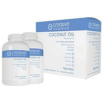 Creative Bioscience Coconut Oil Dietary Supplement (180 ct, 2 pk.)