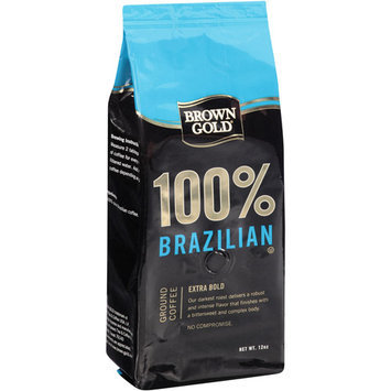 Brown Gold 100% Brazilian Extra Bold Ground Coffee, 12 oz