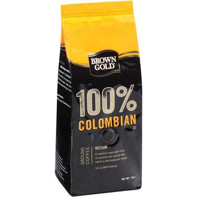Brown Gold 100% Colombian Medium Ground Coffee, 12 oz