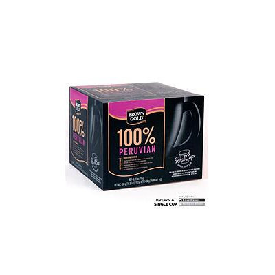 Mother Parkers Tea & Coffee Inc. Brown Gold 100% Peruvian Coffee RealCups - 48 ct.