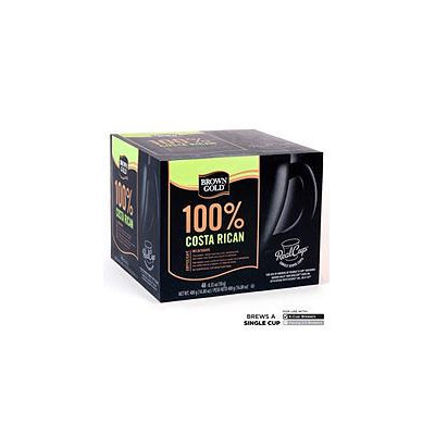 Mother Parkers Tea & Coffee Inc. Brown Gold 100% Costa Rican Coffee RealCups - 48 ct.