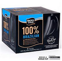 Mother Parkers Tea & Coffee Inc. Brown Gold 100% Brazilian Coffee RealCups - 48 ct.