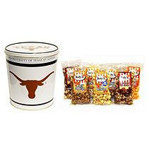 Jodys Popcorn University of Texas Popcorn Tins