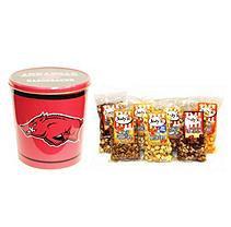 Jodys Popcorn Arkansas Razorbacks Popcorn Tin