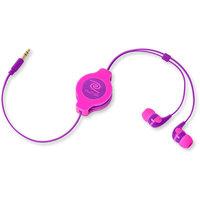 Retrak Neon Earbuds - Pink/Purple by Retrak