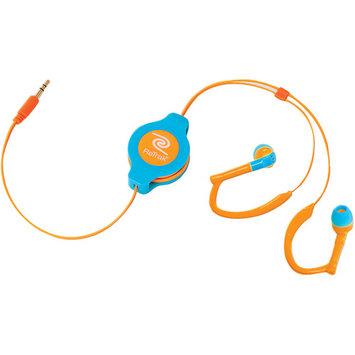 RETRAK ETAUDWPKRL Retractable Sports Wrap Earbuds (Neon Pink/Purple)