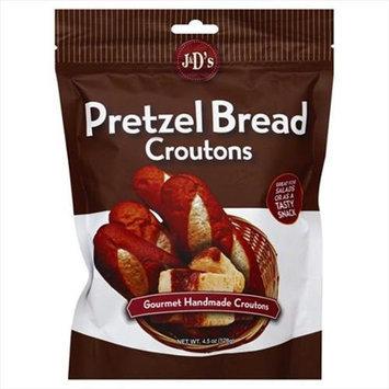 J & D's J & Ds 4.5 oz. Crouton Pretzel Bread Case Of 6