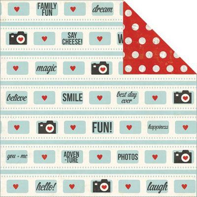 Simple Stories Say Cheese Double-Sided Cardstock 12X12-Fun! Pack Of 25