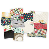 Simple Stories HSPN3825 Sn@p Memorabilia Pockets 6-Pkg-Homespun