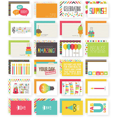 Simple Stories Sn@p! Double-Sided Card Pack 4inX6in 24/Pkg-Birthday