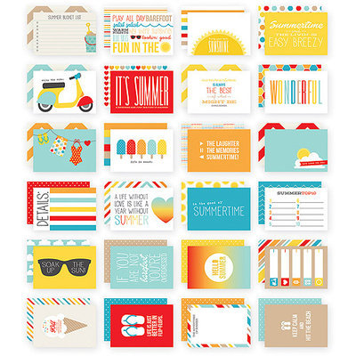 Simple Stories Sn@p! Double-Sided Card Pack 4inX6in 24/Pkg-Summer
